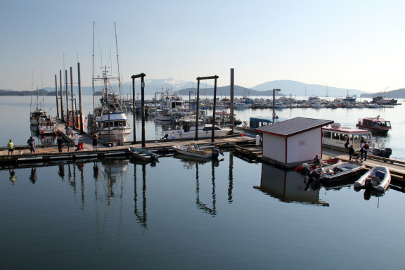 Sitting by the dock in Auke Bay