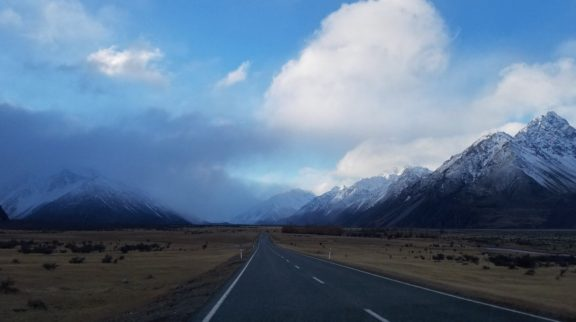 Racing the incoming weather to Mt. Cook