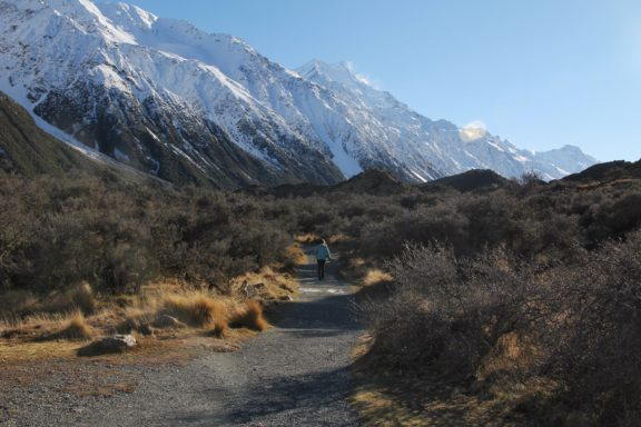 View of Mt. Cook from the Tasman Valley