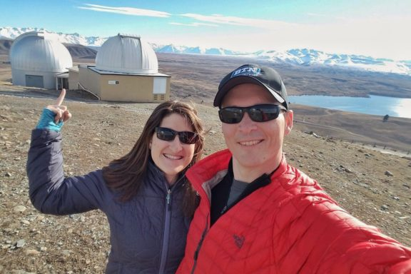 St. John's Observatory is high above Lake Tekapo