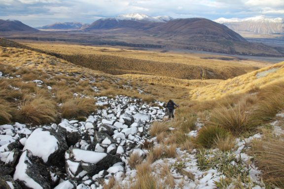 Reaching the snowy and rocky elevations