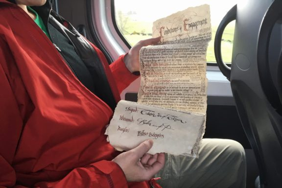 Replica of Bilbo's contract with the dwarves
