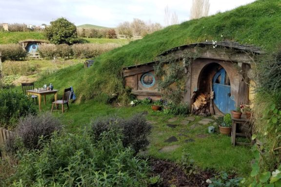 Impressive attention to detail at each Hobbit hole
