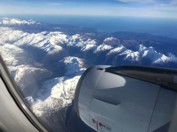 Flying over the South Island
